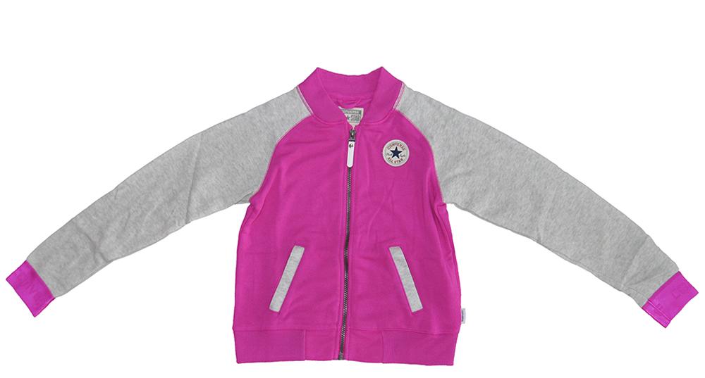Converse Pink Grau Hoodie Kinder Mädchen Sweatshirt 366356-P2C