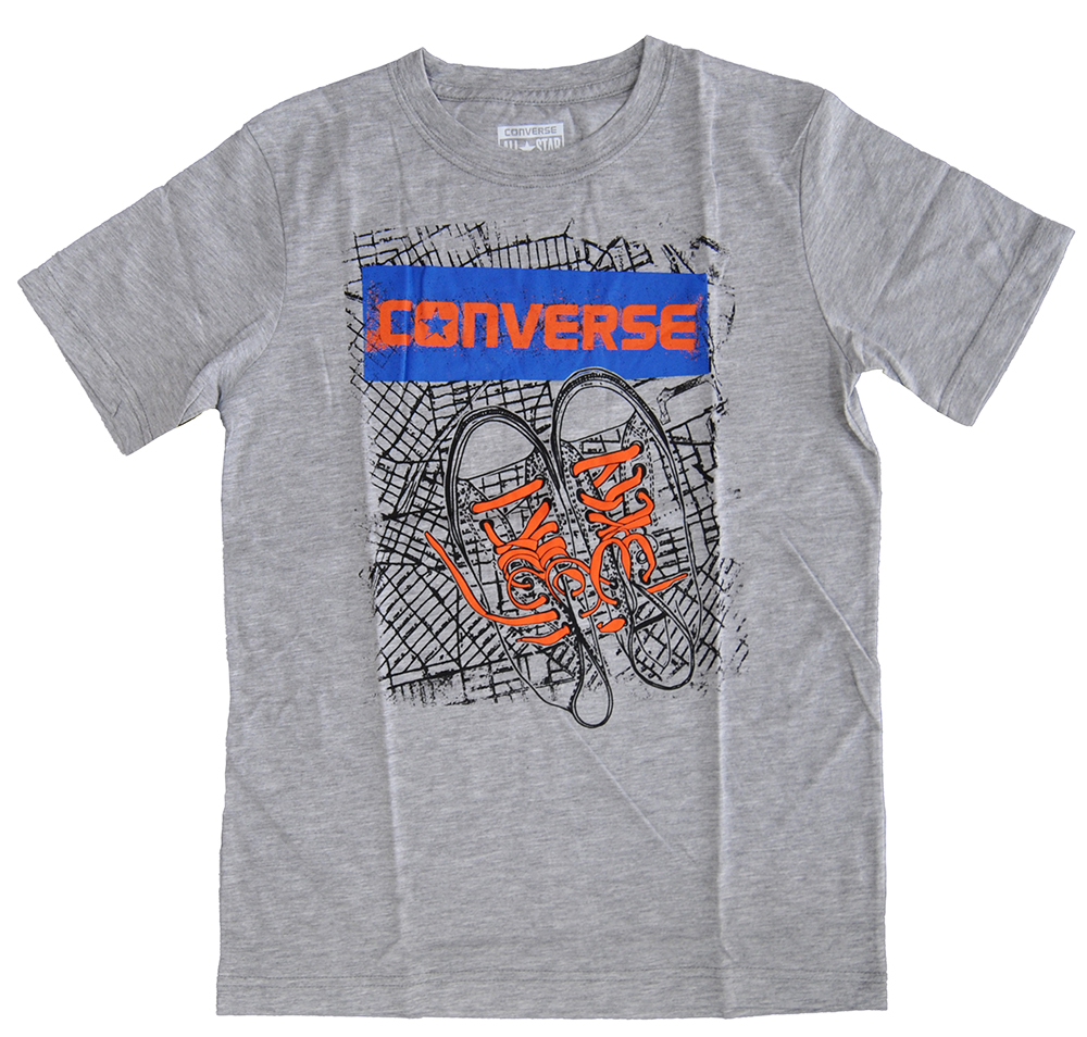 Converse All Star Grau Kinder T Shirt 966401-042