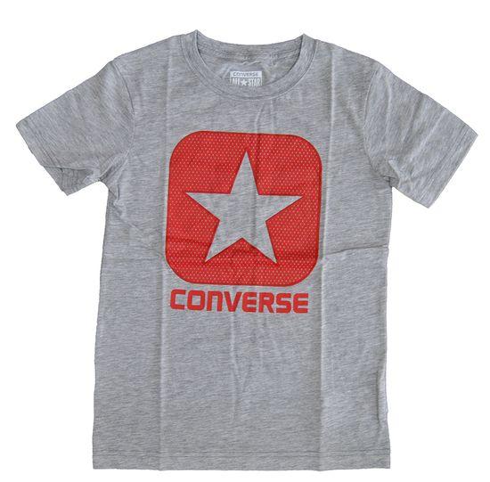 Converse All Star Grau Rot Kinder T Shirt 866242-042