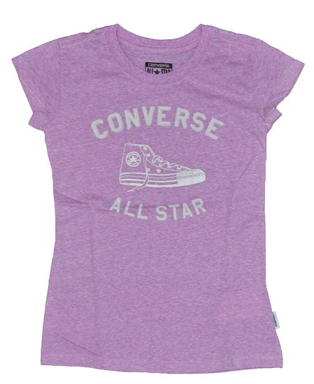 Converse All Star Lila Kinder Mädchen T Shirt 466250-P2K