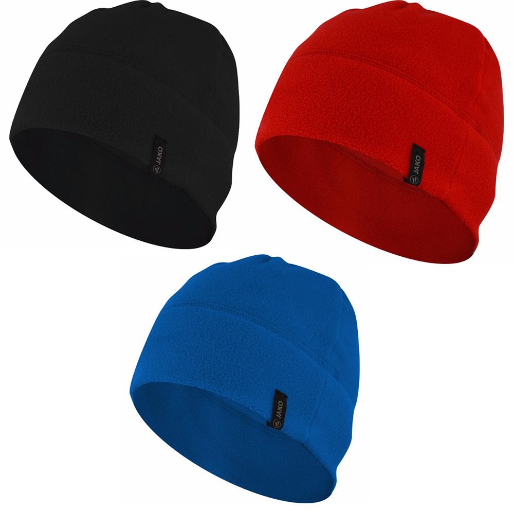 JAKO Fleecemütze 2.0 Unisex Mütze Schwarz Rot Blau 1221 01 04 08