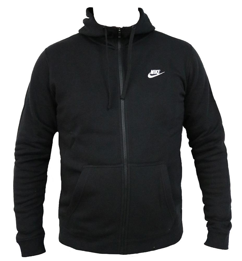 Nike Sportswear Full-Zip Hoodie 804389-010 Herren Men's Schwarz Black