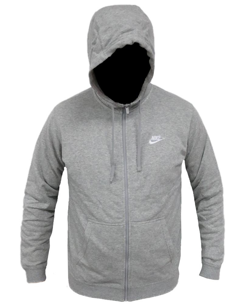 Nike Sportswear Full-Zip Hoodie 804389-063 Herren Men's Grau Grey