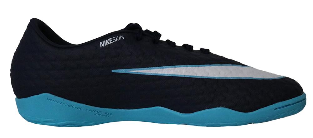 Nike Hypervenomx Phelon III IC 852563-414 Dunkelblau Fußballschuhe