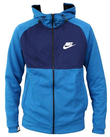 Nike Zip Hoodie AV15 Fleece Blau 861742-465 Herren Kapuzenjacke