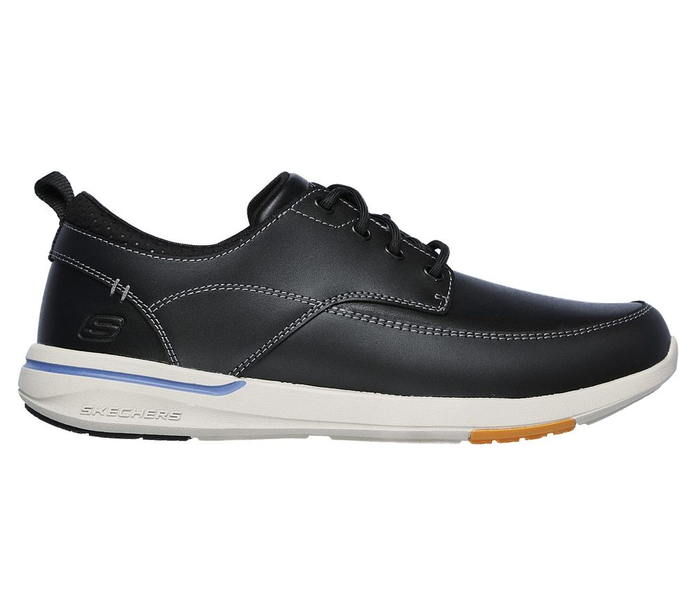 Skechers Relaxed Fit Elent-Leven Herren Leather Sneaker 65727/BLK Schwarz