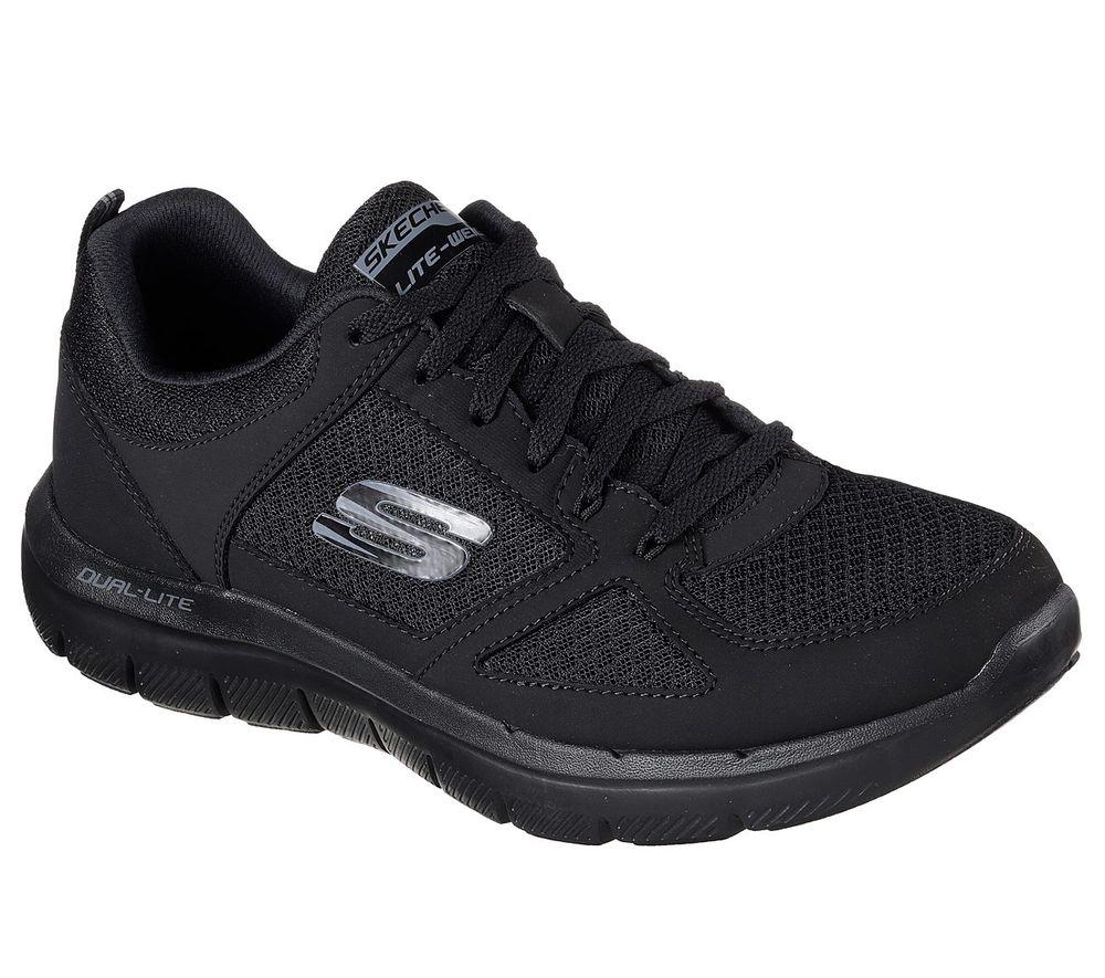 Skechers Flex Advantage 2.0 Lindam Herren Sneaker 52189/BBK Schwarz