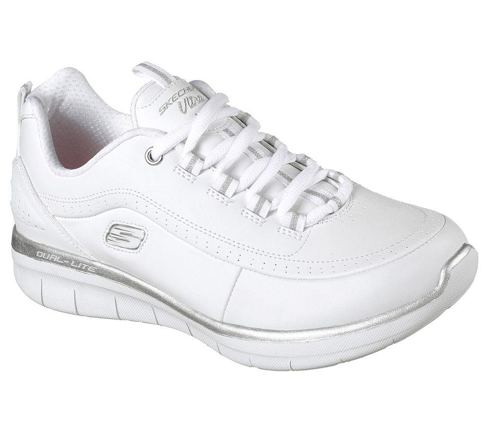 Skechers Synergy 2.0 Damen Weiß Sneaker 12363WSL Schuhe QABmm