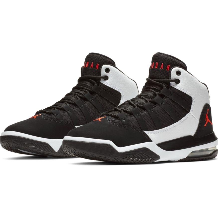Jordan Max Aura AQ9214-101 Kinder Sneaker Schwarz Weiß