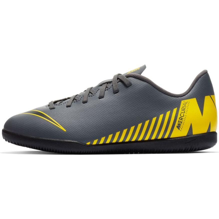 Nike Vapor 12 Club GS IC Indoor AH7354-070 Grau Kinder Fußballschuhe