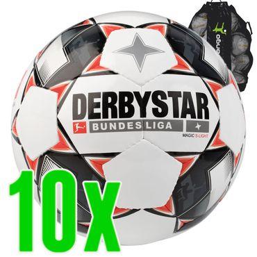 Derbystar Bundesliga Magic S-Light Jugendball weiß rot grau 10er Ballpaket