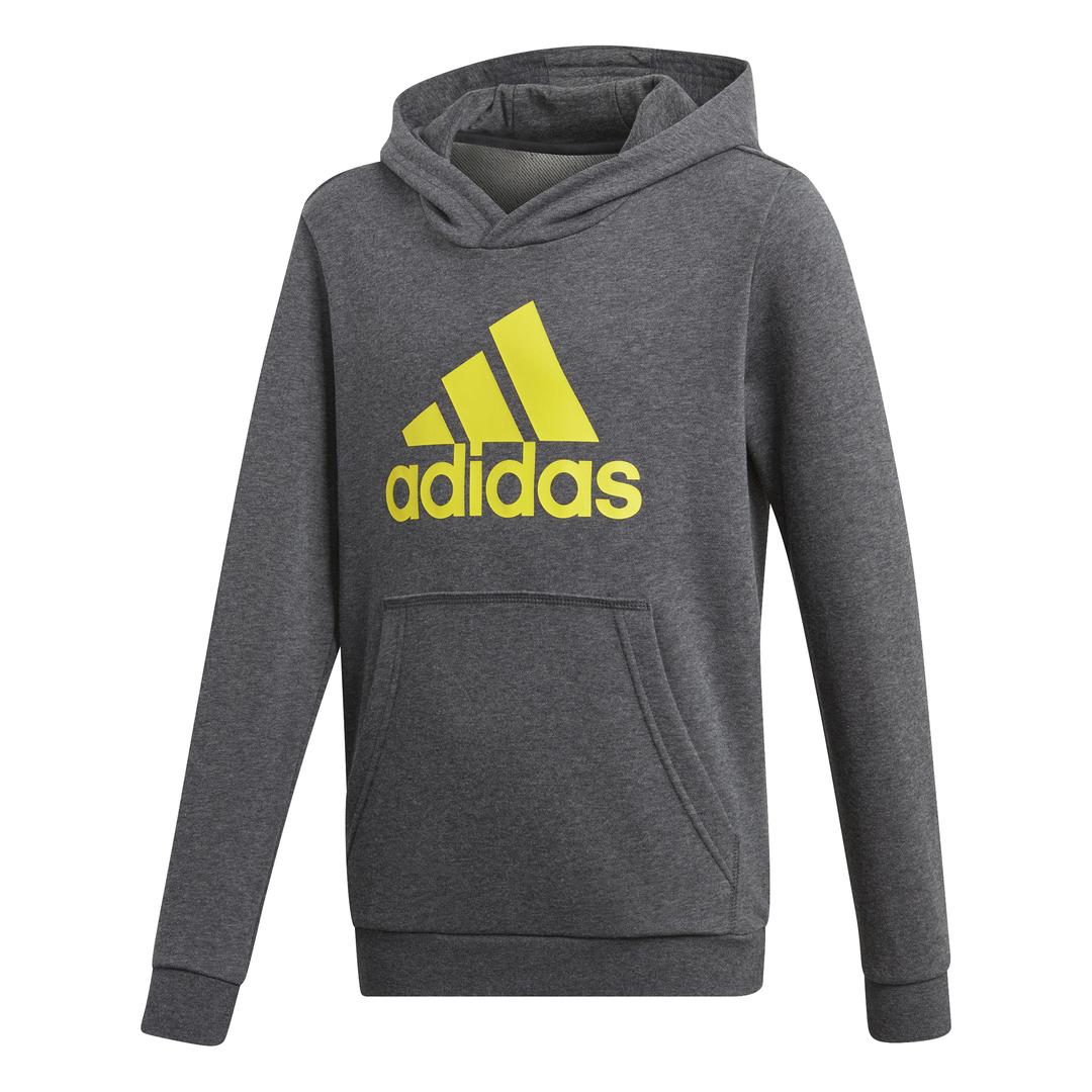 Details zu Adidas YB Logo Hood Kapuzenpullover Kinder grau Pullover Kids Hoodie Hoody NEU