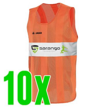 Jako Trainingsleibchen orange 10er Set