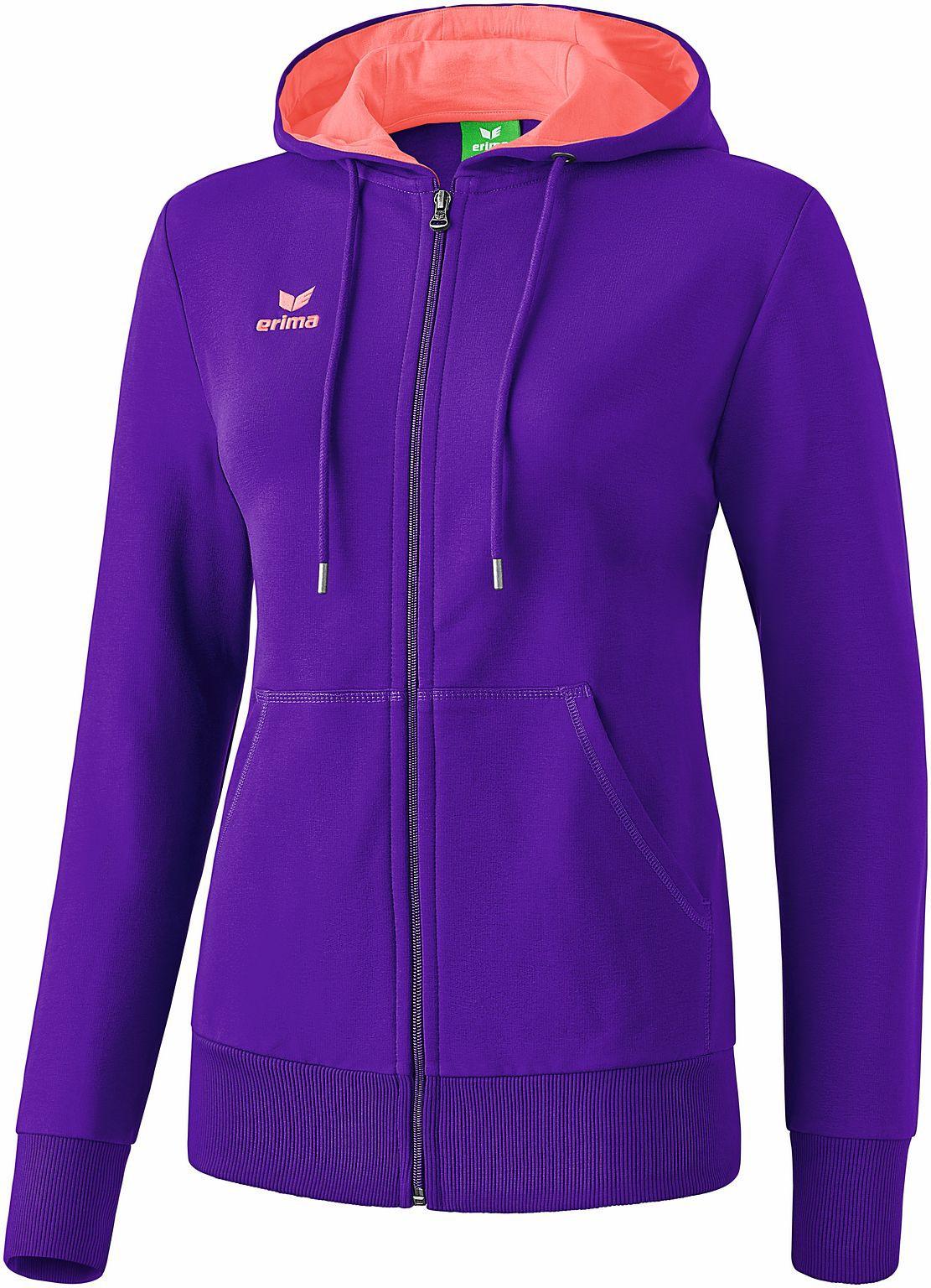 erima graffic 5 c sweatjacke mit kapuze damen violet coral hoody neu ebay