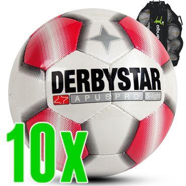 Derbystar Apus Pro S-Light weiß rot 10er Ballpaket