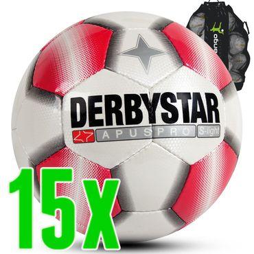 Derbystar Apus Pro S-Light weiß rot 15er Ballpaket