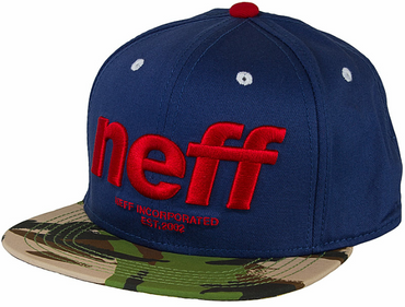 NEFF Hardr Snapback Cap navy/floral/camouflage Herren NEU
