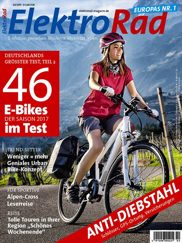Titelseite vom Elektro Rad Magazin