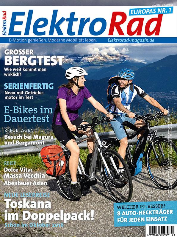 Titelseite vom ElektroRad Bergtest