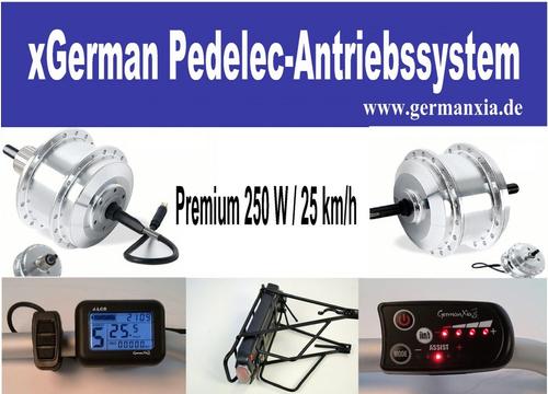 KONFIGURATOR xGerman Nachrüstsatz 250W/36V Hinterradantrieb, bis 25km/h