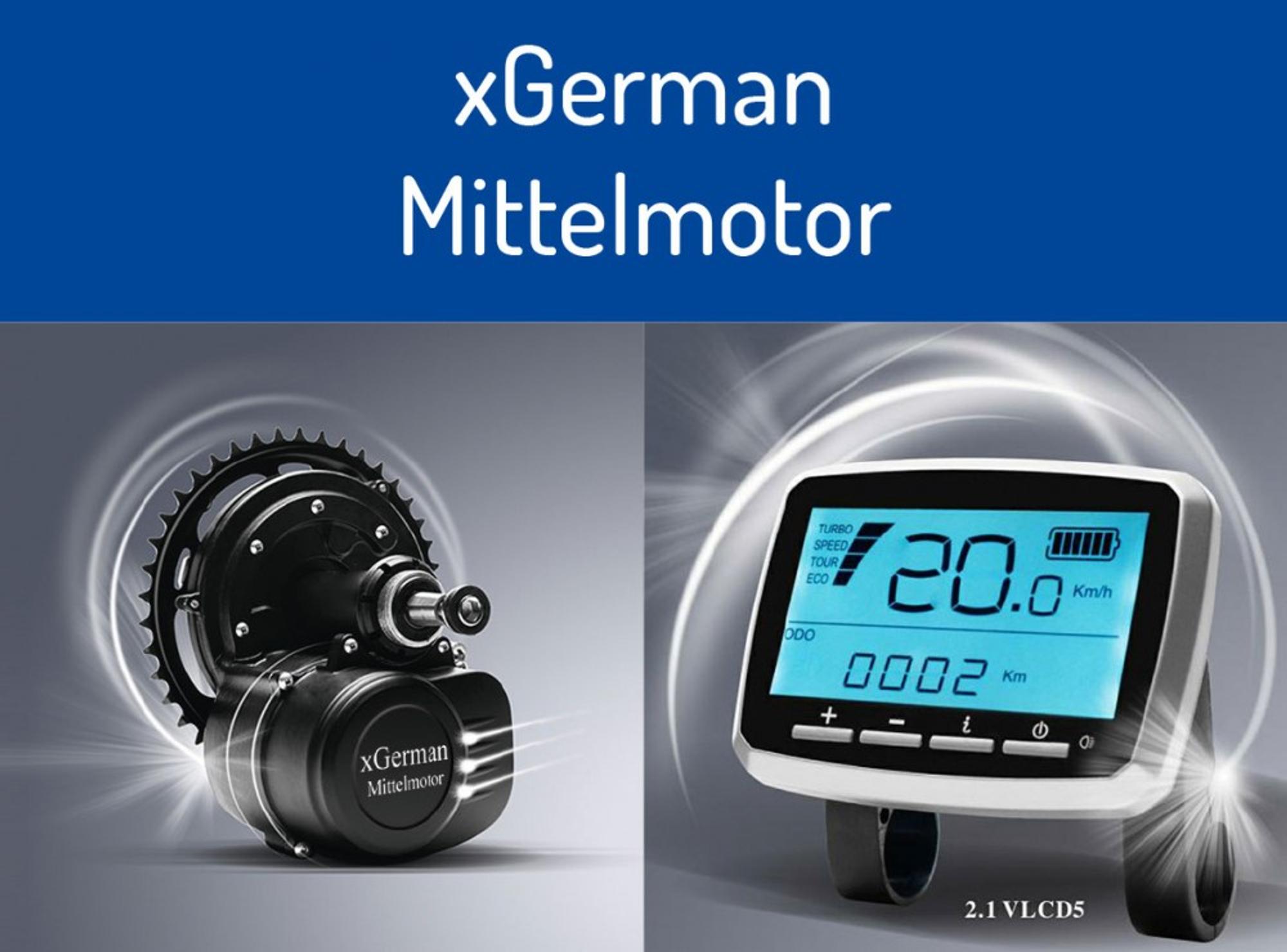 KONFIGURATOR xGerman Umbausatz Mittelmotor-Antrieb 250W/36V/80Nm