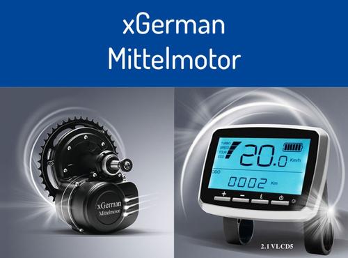 Konfigurator xGerman Nachrüstsatz Mittelmotor-Antrieb 250W/36V mit Drehmoment