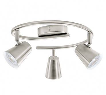 LED Deckenleuchte nickel Matt LED 3 Flammig Eglo 75219