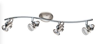 Neu LED Deckenleuchte nickel matt Spots 4er Balken Eglo 75294
