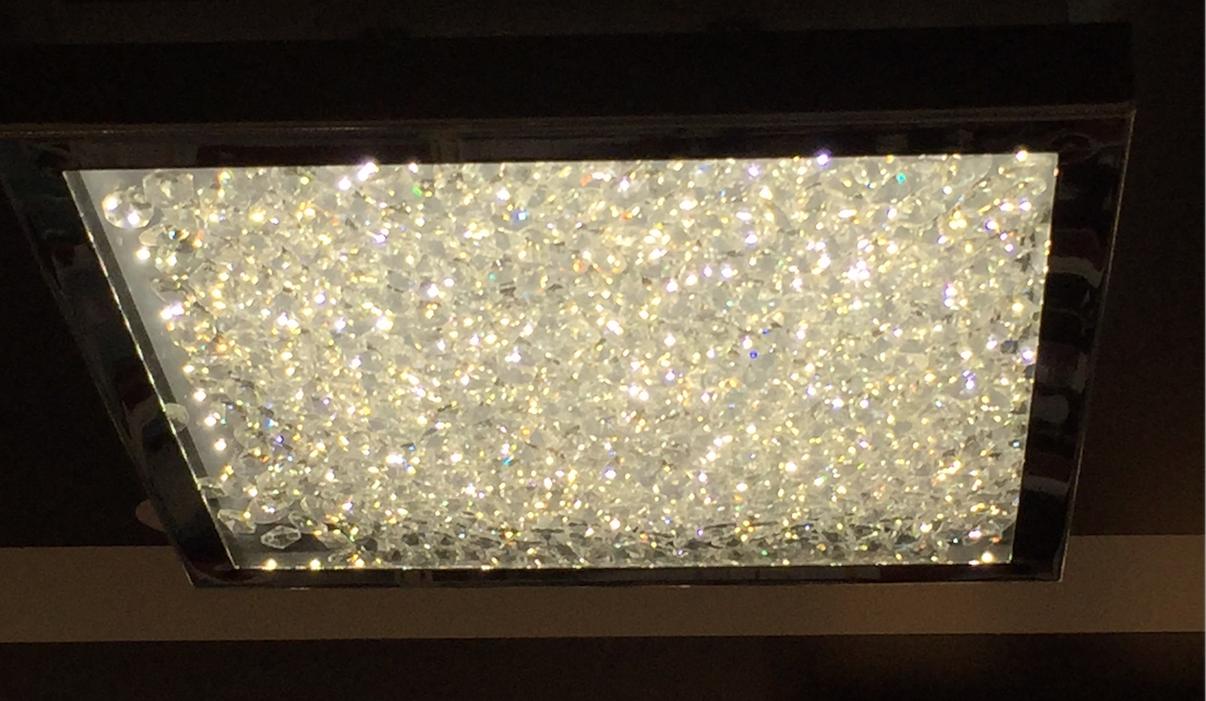 Led cardito decken lampe glas kristalle flur bad 16 watt for Decken led leuchten