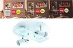 LED Deckenleuchte 3-Step Dimming Dimmbar Gu10 LED rund  Eglo 75367 weiß Lampe 001