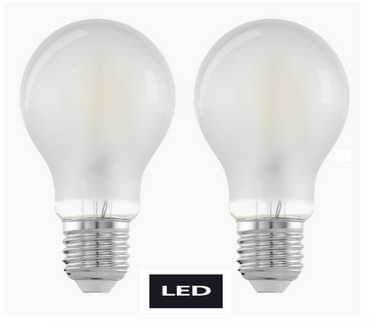 LED Leuchtmittel Fillament matt E27 450 Lumen 2er Pack Eglo 11523