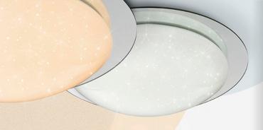 LED Deckenlampe 3 Step Leuchte Sparkle Dekor rund Spiegel Farbwechsler  48377-18