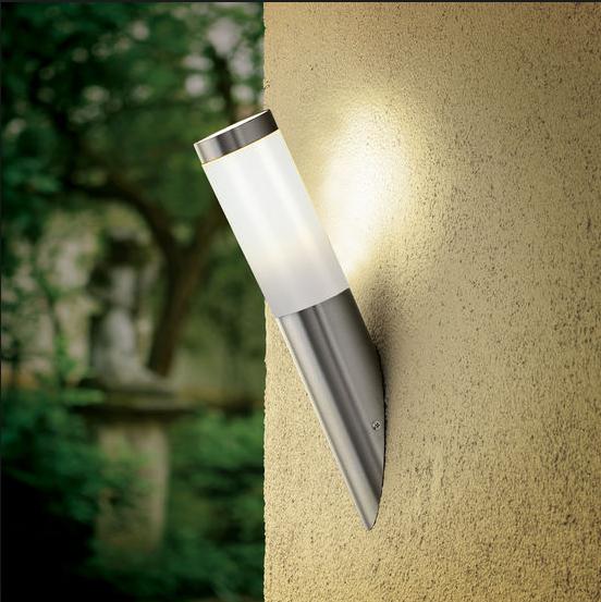led edelstahl wandfackel e27 ip44 3328 aussenleuchte aussenlampe wandlampe hoflampe. Black Bedroom Furniture Sets. Home Design Ideas