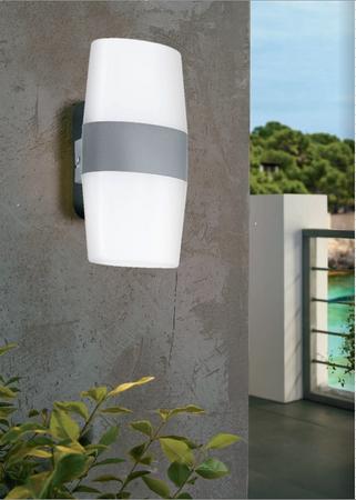 LED IP44 Silber  Alu Aussenleuchte Aussenlampe Wandlampe Hoflampe 94119 Eglo