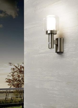 wandlampe aussenlampe aussenleuchte mit bewegungsmelder 95017 eglo aussenleuchten aussenleuchten. Black Bedroom Furniture Sets. Home Design Ideas