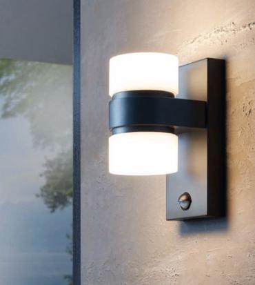 LED Wandlampe Aussenlampe Aussenleuchte mit Bewegungsmelder 96276 Eglo