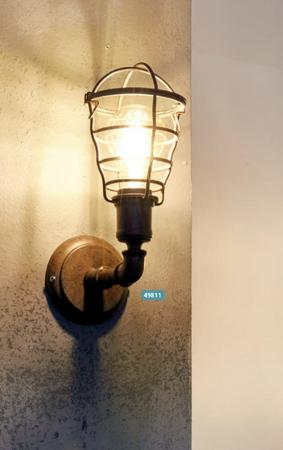 Wandleuchte Wandlampe Vintage Lampe Leuchte Rostfarben 49811
