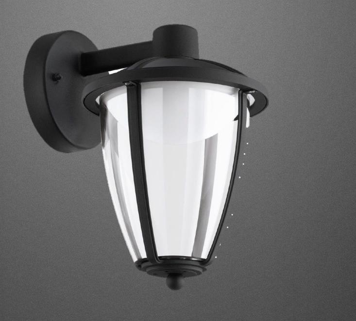 Wandlampe Anthrazit led wandlampe aussenlampe laterne aussenleuchte anthrazit eglo lampe