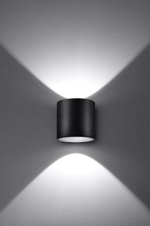 Wandlampe Leuchte Lampe Wandleuchte Up & Down Effektleuchte Alu schwarz SL0048