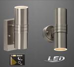 LED Aussenleuchte Sensor mit Dämmerungssensor UP & Down ohne Sensor Edelstahl  001