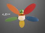 Vertilator Deckenventilaror Leuchte Lampe LED Beleuchtung Metall Glas Bunt 3180 001