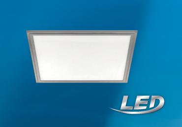 LED Panel Grau 59,5x59,5cm 4300 Lumen 40 Watt  Eglo Salobrena 97638 dimmbar – Bild 1