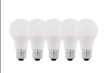 5er Pack Eglo LED Leuchtmittel  A60 9W E27 Glühbirne 806lm 2700K 5er Set   – Bild 2