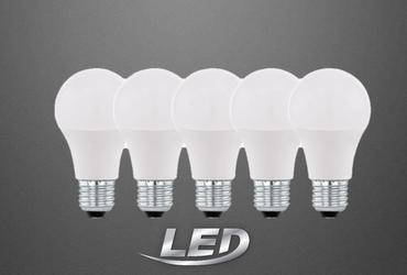 5er Pack Eglo LED Leuchtmittel  A60 9W E27 Glühbirne 806lm 2700K 5er Set