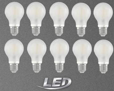 10 Stück LED Leuchtmittel Fillament matt E27 450 Lumen 2er Pack Eglo 11523-10