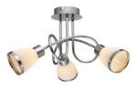 Deckenleuchte Deckenlampe chrom 3 Glas Flammig Lampe Leuchte 42025-3 001