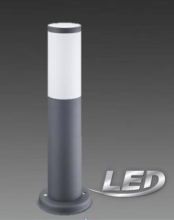 LED 6 Watt Aussenleuchte Aussenlampe dunkelgrau Lampe Leuchte Sockellampe