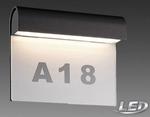 Näve LED Aussenlampe Aussenleuchte anthrazit Hausnummer 1225997 001