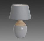 Keramik Tischleuchte Stoff Tischleuchte grau Näve Leuchte 3122216 001