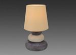 Stofflampe Tischlampe Stoff Tischleuchte Natur Näve Leuchte  3045227 001